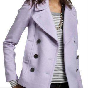 jcrew wool harbor coat in lavender